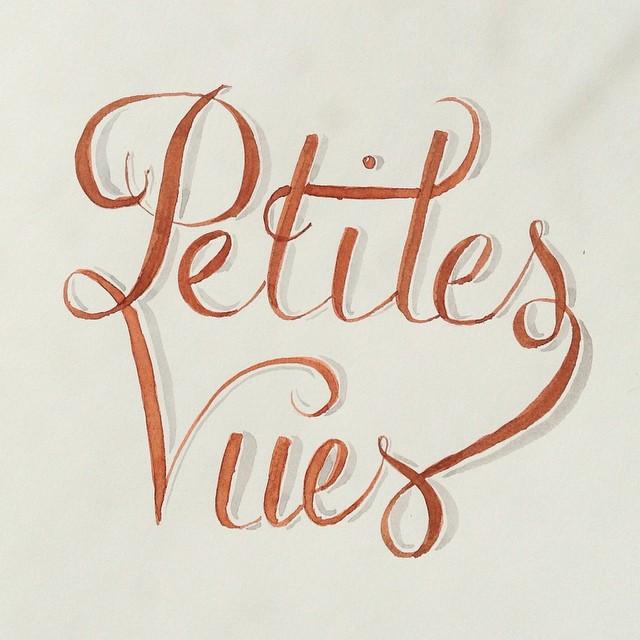 lettering petites vues