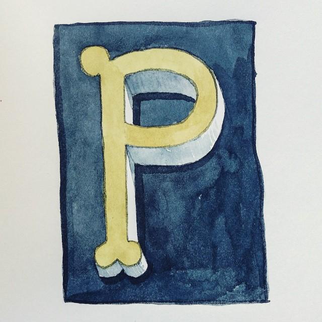 lettering letter P